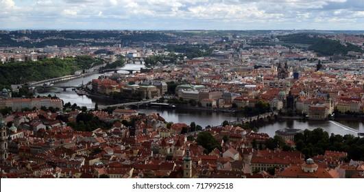 Prague from Petrin Observation Tower, Czech