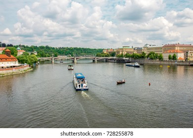 Prague River - July 15, 2017, Prague, Czech Republic