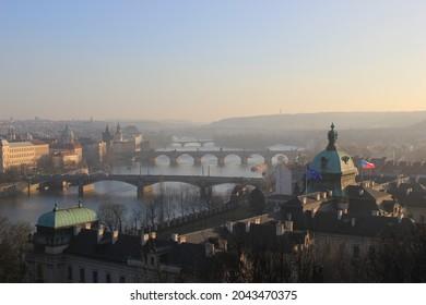 Prague view from Letna park - Shutterstock ID 2043470375