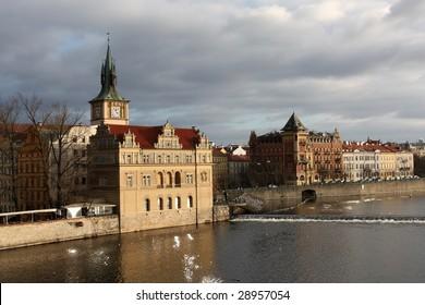 Prague. Vltava river,  Czech Republic - Shutterstock ID 28957054