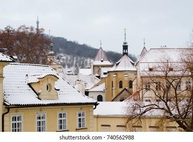 Prague in the winter