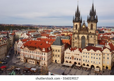 PRAGUE/CZECH REPUBLIC - Apr 10,2012 : Church of Our Lady and surrounding building