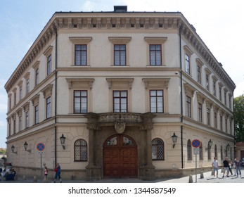 Prague/Czech Republic - August 10th, 2017: Liechtenstein Palace. This is one of two palaces in Prague that formerly belonged to the Princely Family of Liechtenstein.