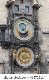 PRAGUE/CZECH REPUBLIC - CIRCA MAY 2016: Clock in the cathedral.