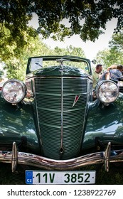 prague,czech republic,26.5.2018,The Ford flathead V8,year of production 1939
