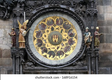 Prague's astronomical clock on Old Town Square