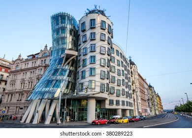 Praha, Czech Republic, August 10.2015: Dancing House in Prague