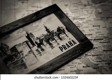 Praha on the map