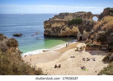 Praia da batata beach, Lagos, Algarve, Portugal
