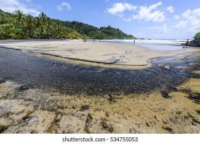 Praia da Engenhoca (Engenhoca Beach) in Itacare, South Bahia, Brazil