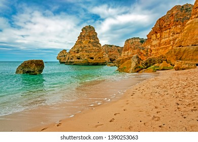 Praia da Marinha in the Algarve Portugal