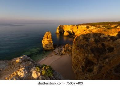 Praia da Marinha, Algarve, Portugal. One of the many beaches in the Portuguese Algarve