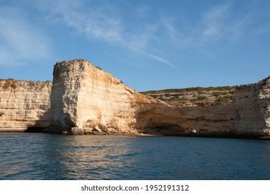 Praia da Rocha (Rocha Beach), beautiful Algarve Coast, Blue Sea