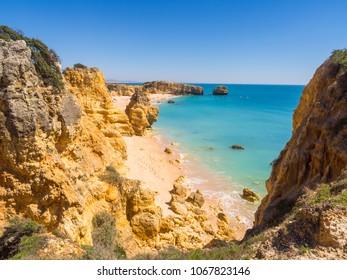 Praia de Sao Rafael (Sao Rafael beach) in Algarve region, Portugal.