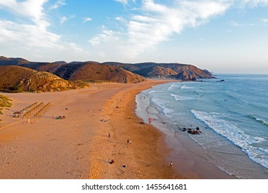 Praia do Amado at the west coast in Portugal at sunset