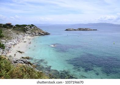 Praia nas ilhas