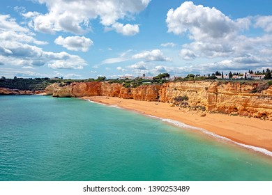 Praia Nova in Armacao de Pera in the Algarve Portugal