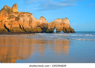 Praia Tres Irmaos in Alvor the Algarve Portugal