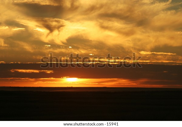 A praire sunset