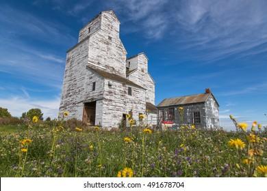 Prairie Elevator - unlabeled prairie grain elevator in Saskatchewan