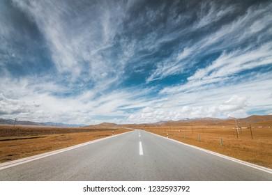 Prairie Highway Scenery