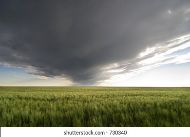 Prairie Landscape with a vivid sky