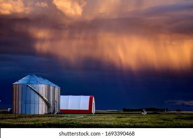 Prairie Storm Canada summer rural major structure Saskatchewan