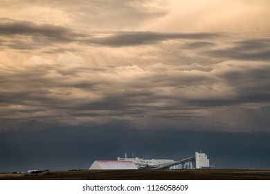 Prairie Storm Clouds Canada Saskatchewan Potash Mine