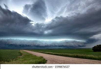 Prairie Storm Clouds Canada Saskatchewan Dramatic Summer