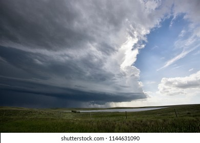 Prairie Storm Clouds in Saskatchewan Canada rural setting