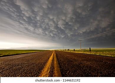 Prairie Storm Clouds in Saskatchewan Canada Mammatus