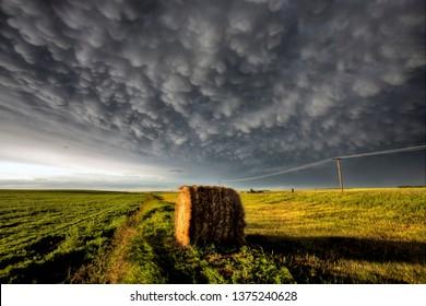 Prairie Storm Clouds in Saskatchewan Canada Scenic