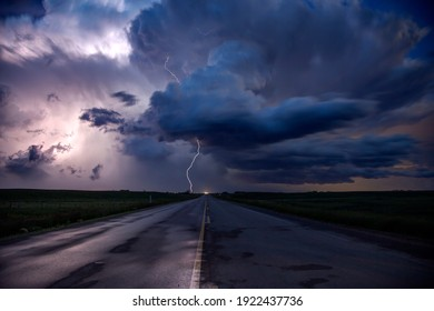 Prairie Storm Clouds in Saskatchewan Canada dramatic Lightning