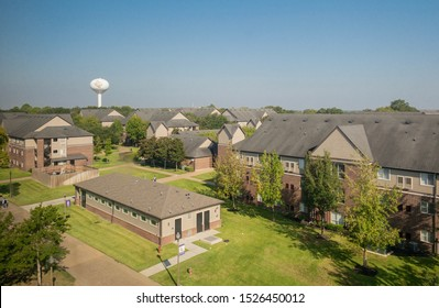 Prairie View, Texas, USA - October 9, 2019: Student housing in Prairie View A&M University in the morning