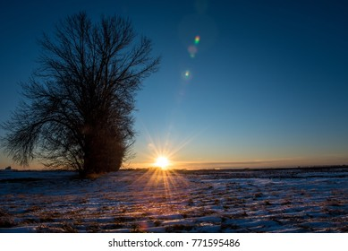 Prairie Winter Sunset