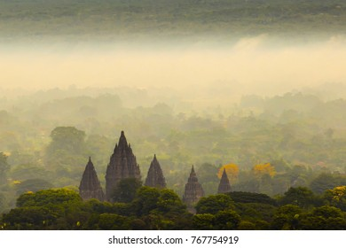 Prambanan Temple aerial view