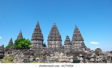 prambanan temple compounds - the tallest and most beautiful, largest hindus temple in the world