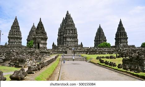 Prambanan temple compounds - Unesco Heritage in Indonesia