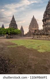 Prambanan Temple During Golden Hours