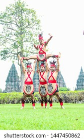 Prambanan Temple, Indonesia. 06 March, 2019. Participants in the Nyepi ceremony, simbok, paklek, students, elders, ingkang pinisepuh are devoted to prosperity.