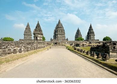 Prambanan Temple, in Yogyakarta, Indonesia