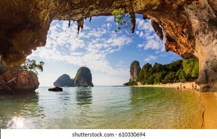 Pranang Cave Beach, Railay, Krabi, Thailand