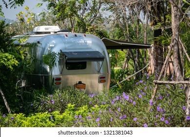 Airstream Travel Trailer Images, Stock Photos & Vectors