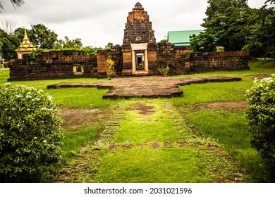 Prang Ku Ban Ku Thawat Buri, Roi Et Province Thailand.