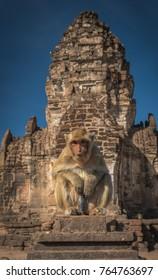 Prang Sam Yot Lopburi in Thailand.