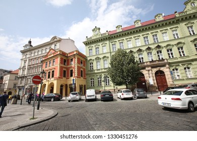 Praque, Czech Republic - JULY 5, 2018: Down Town of  Praque, People enjoying all what down town  can offer.