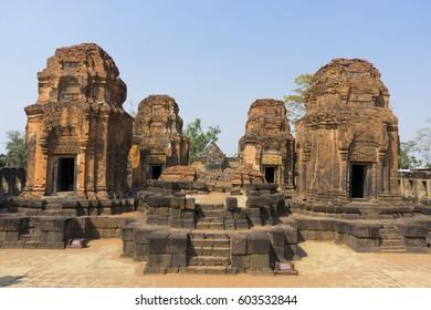 Prasat Hin Muang Tam, the Ancient Sanctuary in Buriram , Thailand