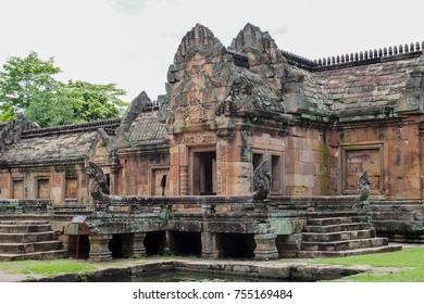 Prasat Hin Phanom Rung, The temple is located  in Buriram Province, it is landmark and popular for tourist attractions in Buriram, Thailand, Asia.