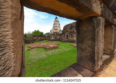 Prasat Hin Phanom Wan, historical park and ancient stone castle in Nakhonratchasima, Thailand.