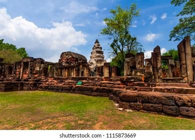 Prasat Hin Phanom Wan, historical park and ancient stone castle in Nakhonratchasima, Thailand